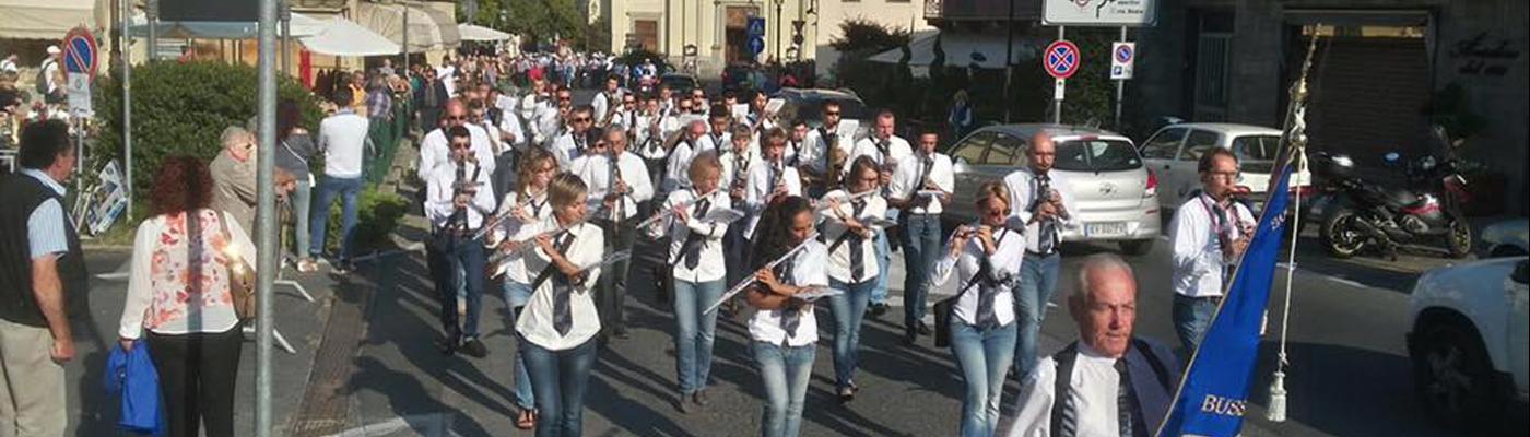 La Banda della Filarmonica in sfilata